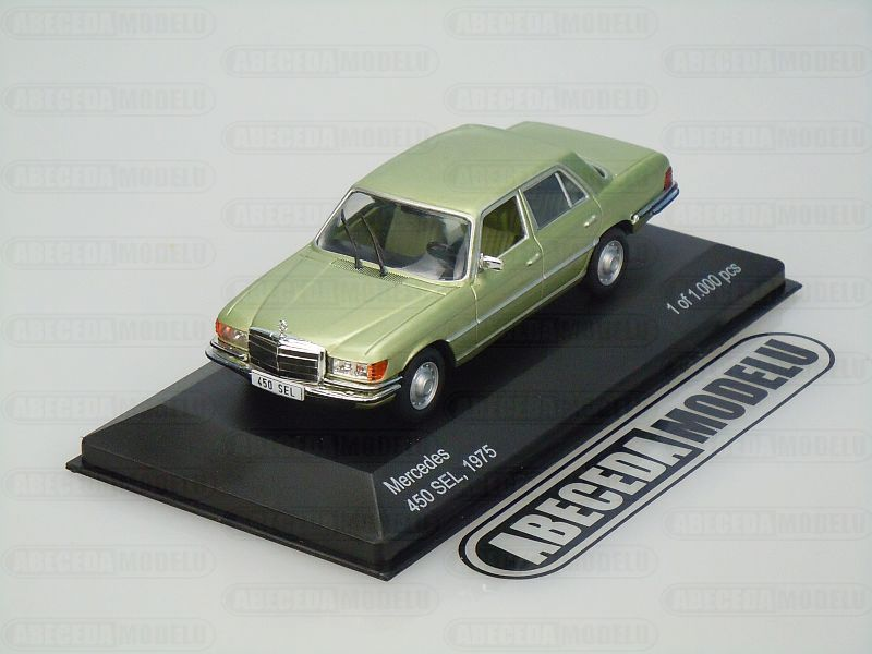 Whitebox 1:43 Mercedes Benz 450 SEL 1975 (green) Code Whitebox WBS127, modely aut