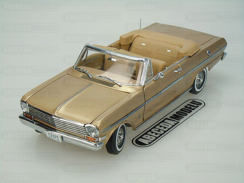 Sun Star 1:18 Chevrolet Nova Open Convertible 1963 (gold) code Sun Star 3975, modely aut