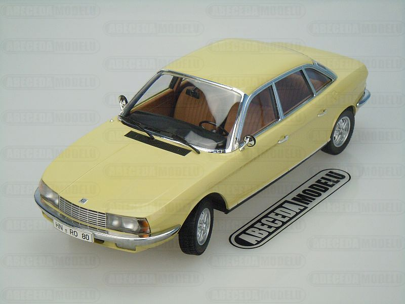Minichamps 1:18 NSU Ro80 1972 (yellow) code Minichamps 151015402, modely aut