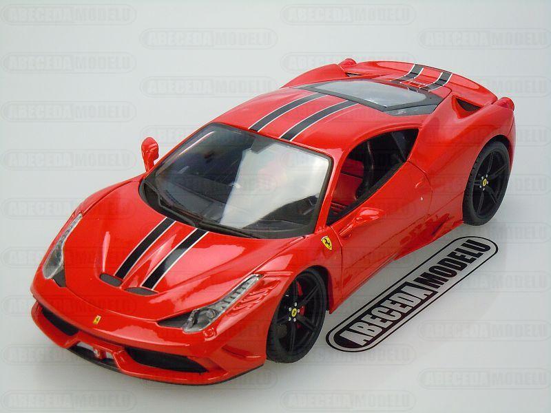 Bburago 1:18 Ferrari 458 Speciale Signature (red) code Bburago 16903, modely aut