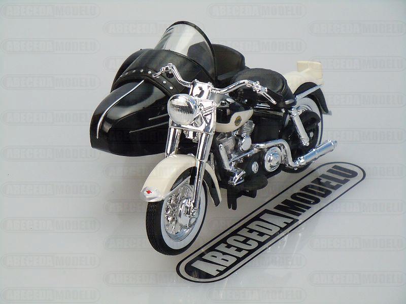 Maisto 1:18 Harley Davidson FLH Duo Glide 1958 Sidecar (black-white) code Maisto 32420, model motocyklu