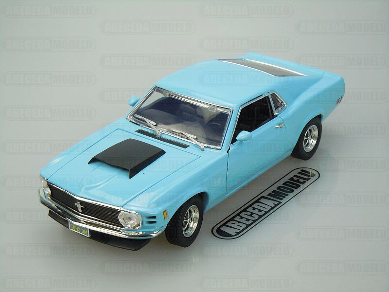 Motor Max 1:18 Ford Mustang Boss 429 1970 (blue) code Moto Max 73154, modely aut