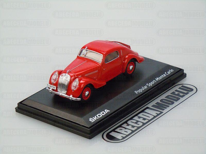 Abrex 1:43 Škoda Popular Sport Monte Carlo 1935 (red) code Abrex 143ABH-903BH, modely aut