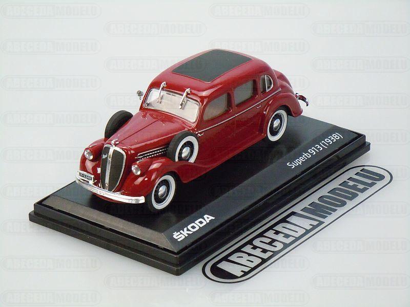 Abrex 1:43 Škoda Superb 913 1938 (red) code Abrex 143ABH-904BF, modely aut