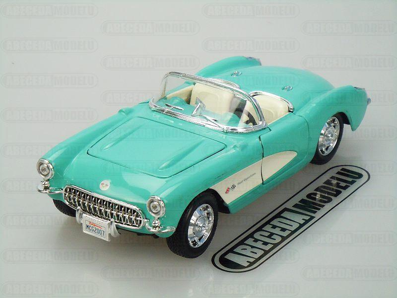 Maisto 1:24 Chevrolet Corvette 1957 (turquoise) code Maisto 31275, modely aut