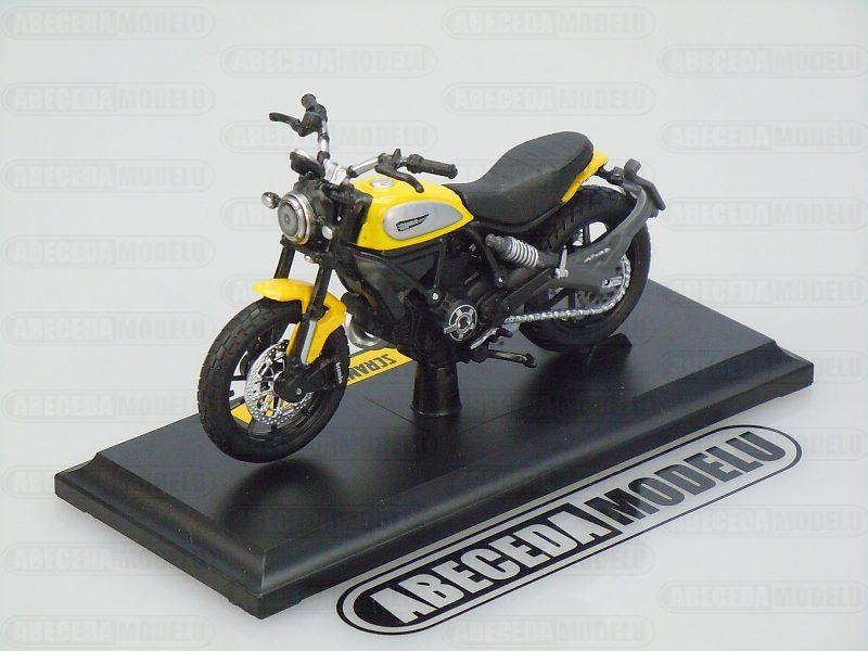 Maisto 1:18 Ducati Scrambler 2015 (yellow) code Maisto 14174, modely motocyklu