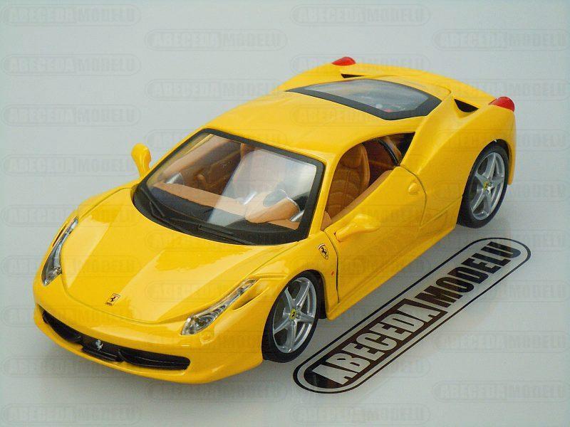 Bburago 1:24 Ferrari 458 Italia (yellow) code Bburago 26003, modely aut