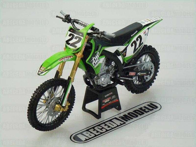 NewRay 1:12 Kawasaki KX450F 2014 Chad Reed No.22 code NewRay 57683, model motocyklu