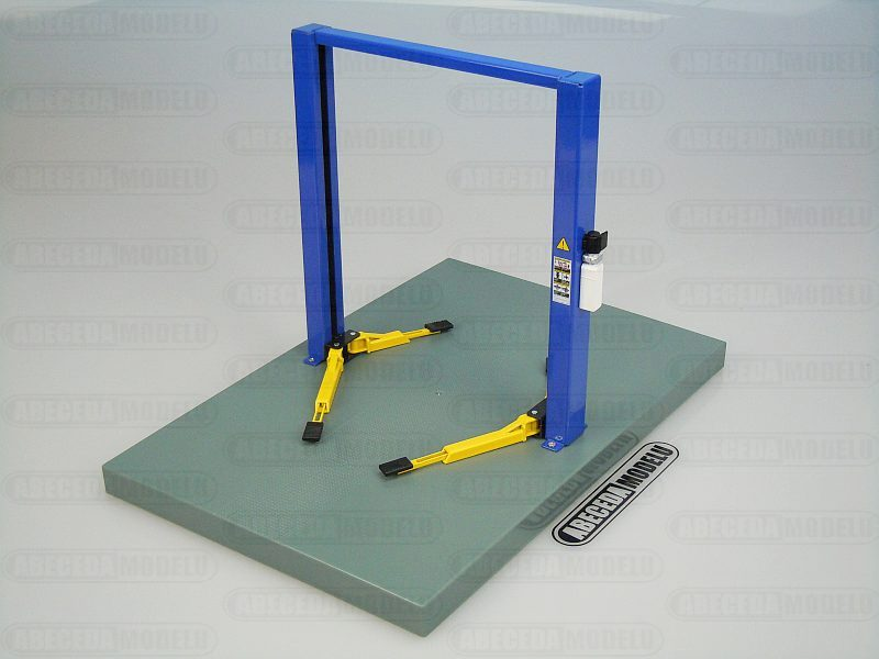 Greenlight 1:18 Two Post Lift Dvousloupový Zvedák (blue) code 12915, modely aut