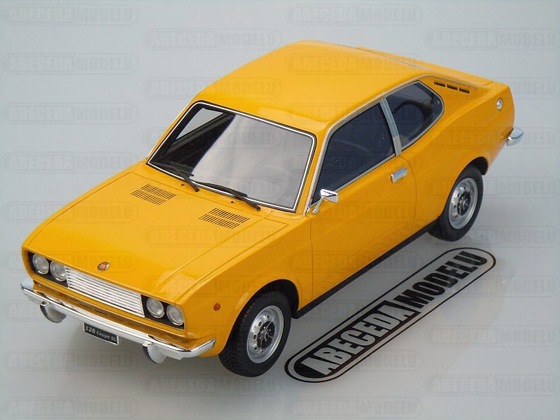 Laudoracing-Models 1:18 Fiat 128 Coupe 1300 SL 1972 (yellow) LM092B, modely aut