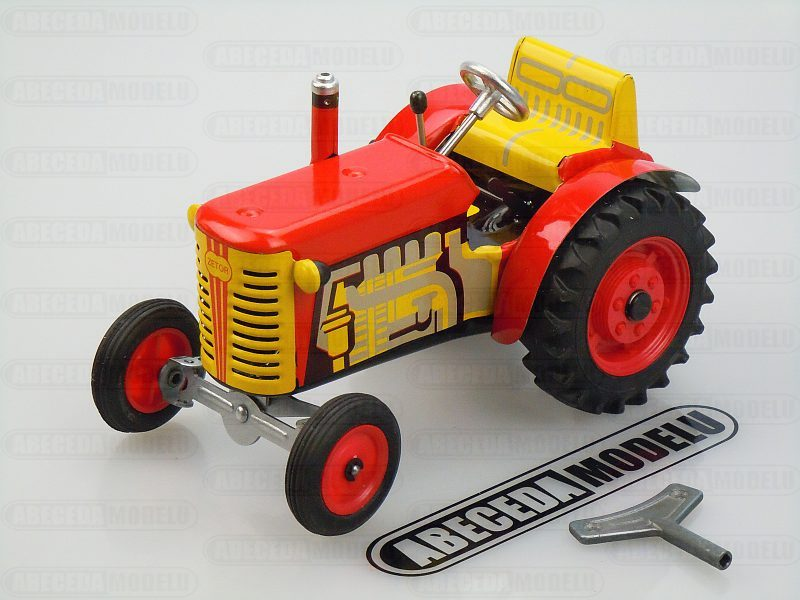 Kovap 1:25 Traktor Zetor 15cm (red) code Kovap 0380C, plechovy model