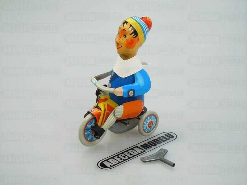 Kovap - Kluk na tříkolce sběratelský model (retro) code Kovap 0620, plechové hračky