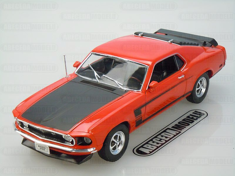 Welly 1:18 Ford Mustang Boss 302 1969 (red) code Welly 12516, modely aut