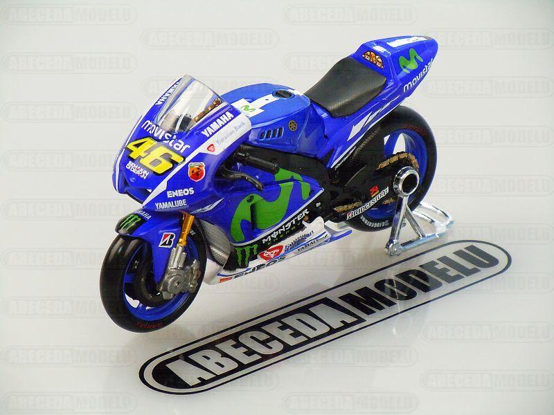 Maisto 1:18 Yamaha YZR-M1 V.Rossi No.46 MotoGP 2015 code Maisto 39589, model motocyklu