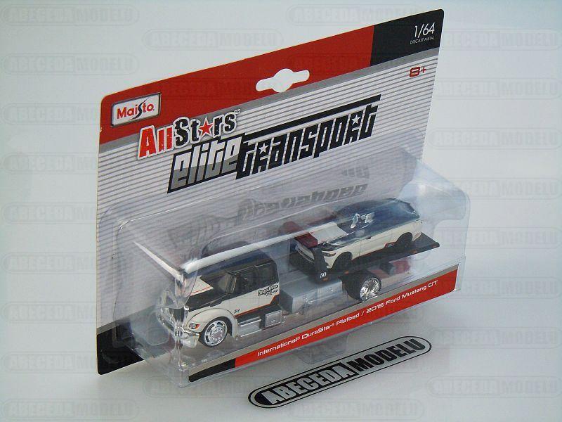 Maisto 1:64 Elite Transport DuraStar/ Mustang 2015 code Maisto 15055, modely aut