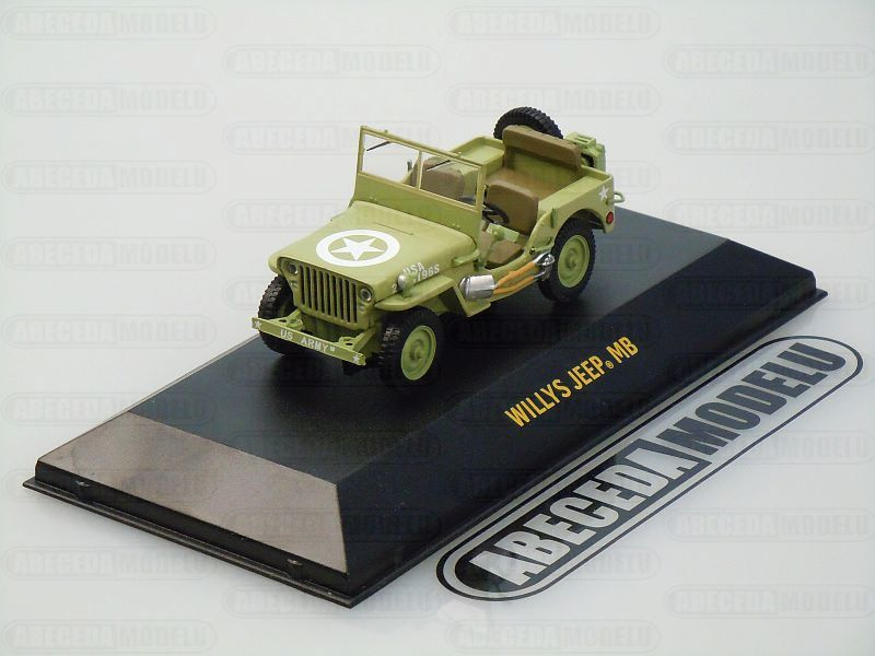 Greenlight 1:43 Jeep Willys MB U.S Army (green) code Greenlight 86307
