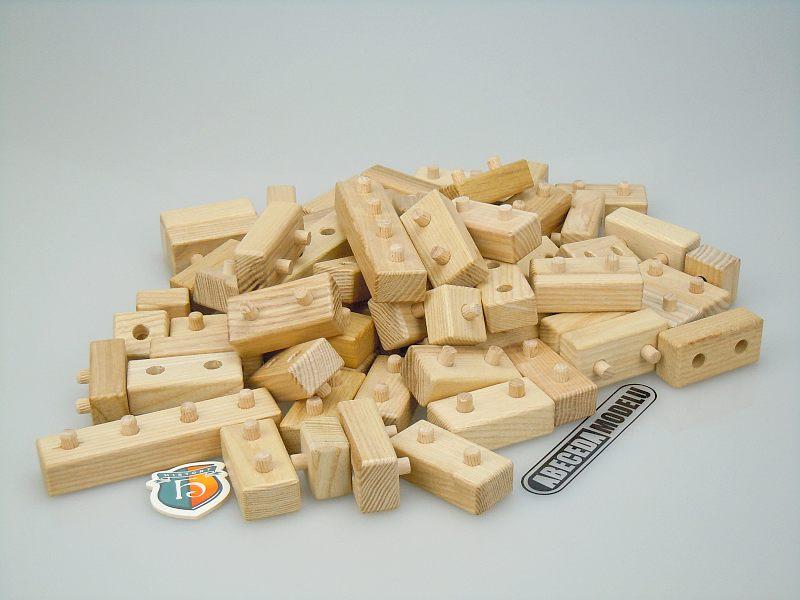 Ceeda Cavity: Stavebnice vež 64ks (dřevo) STV60, dřevěné hračky