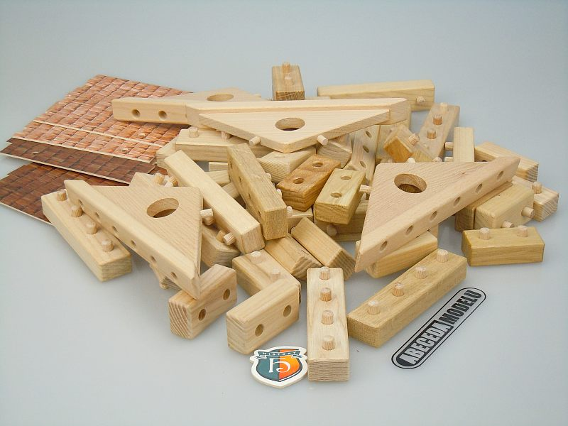 Ceeda Cavity: Stavebnice domů 2ks (dřevo) STV61, dřevěné hračky