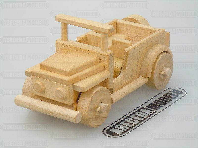 Ceeda Cavity: Americký Jeep (buk) TSV88, dřevěné hračky
