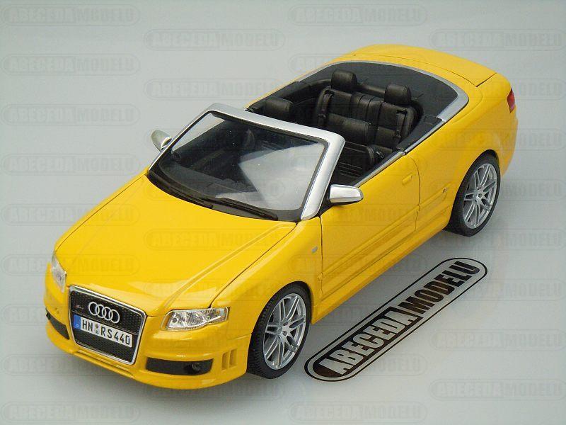 Maisto 1:18 Audi RS4 (yellow) code Maisto 31147, modely aut
