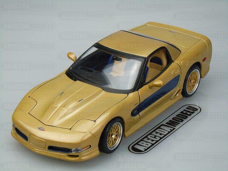 Maisto 1:18 Chevrolet Corvette Guldstrand Sigmature Edition (gold) code Maisto 31657, modely aut