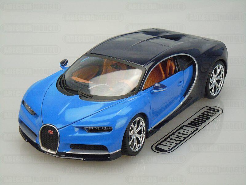 BBurago 1:18 Bugatti Chiron (blue) code Bburago 11040, modely aut