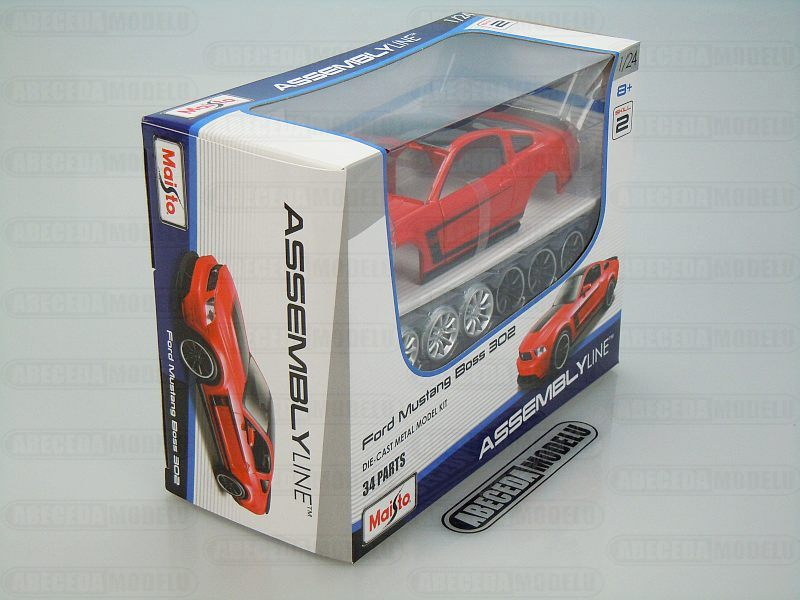 Maisto 1:24 Ford Mustang Boss 302 Kit (red) code Maisto 39269, modely aut