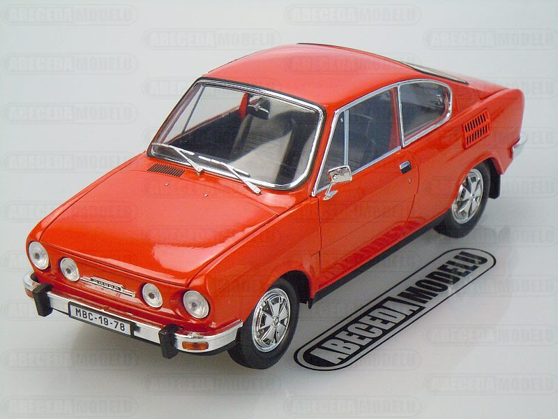 Abrex 1:18 Škoda 110R Coupe 1980 (red) code Abrex 118ABS-707BD, modely aut