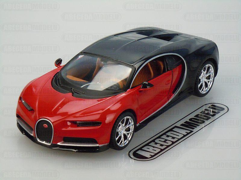 Maisto 1:24 Bugatti Chiron (red/black) code Maisto 31514, modely aut