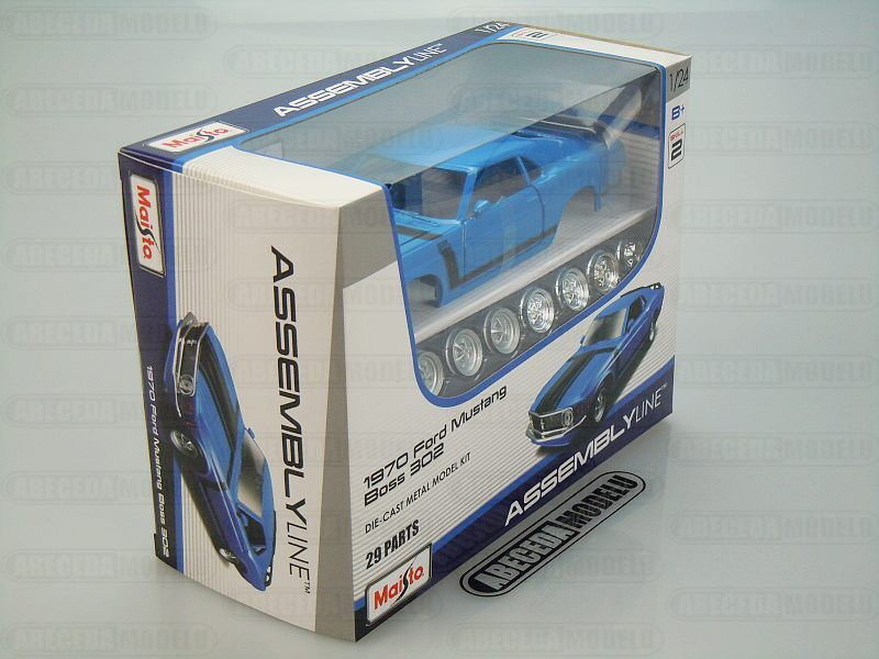 Maisto 1:24 Ford Mustang Boss 302 Kit (blue) code Maisto 39943, modely aut